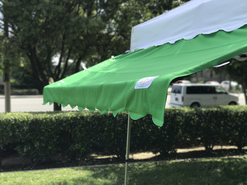 Custom Awning Cover (Size: 10'x10') - California Palms