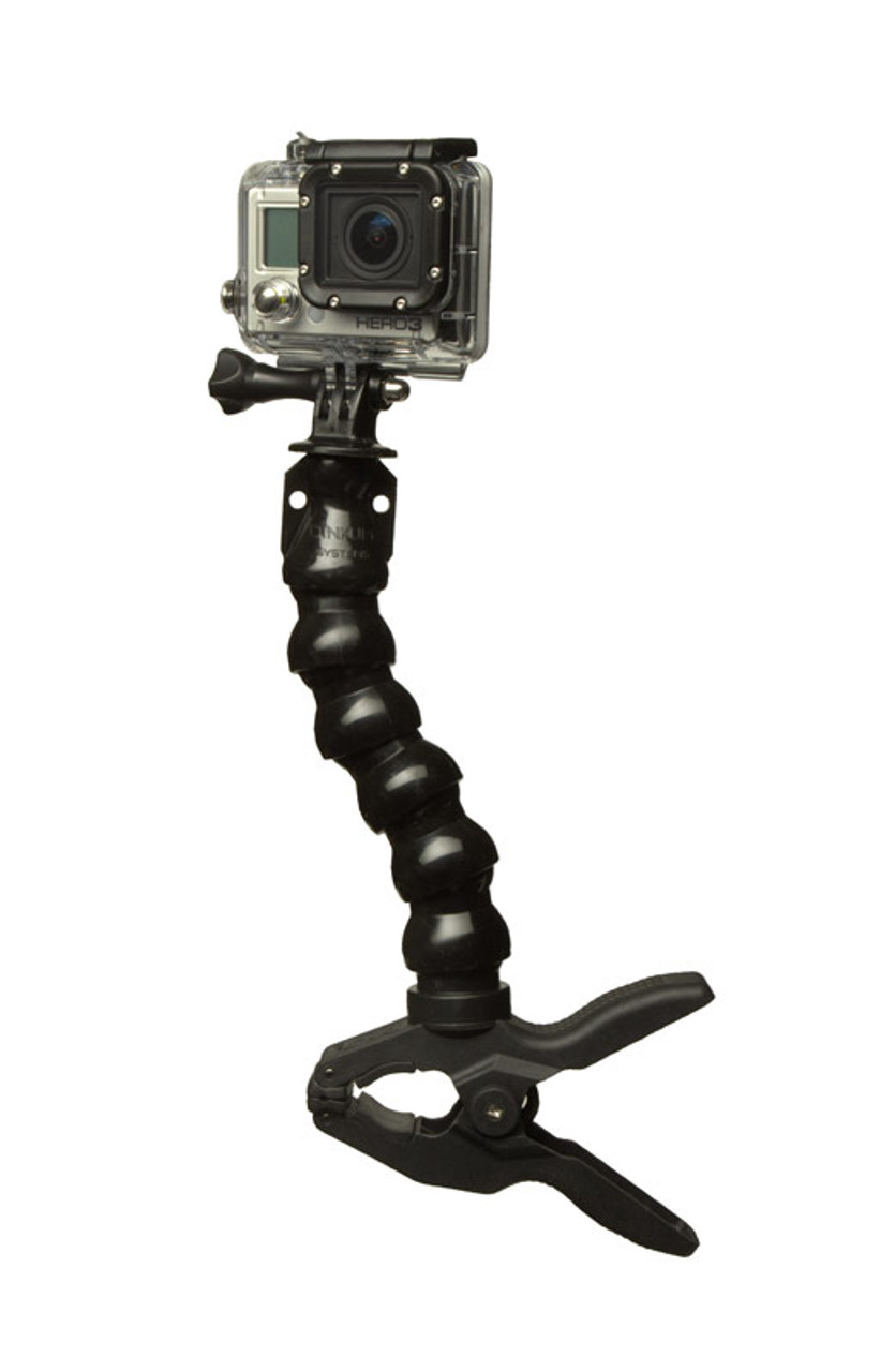 You get an awesomely handy mount for action cameras...