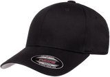 Flexfit Wooly Combed Youth Cap in Black