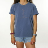 Trigger Girls Indi Surf Faded Tee Ladies in Blue