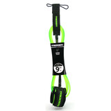 Trigger Bros 9ft Longboard Sup Ankle Leash in Clear Fluro Green