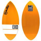 Exile Skimboards EX0 44in 5/8 Small in Orange Horizontal Stripe