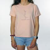 Trigger Girls Indi Surf Box Tee Ladies in Pale Pink