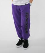Tracksuit Pant Trigger Dark Purple Kids