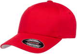 Flexfit Wooly Combed Youth Cap in Red