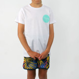 Trigger Bros East Coast Tee Boys in White Mint