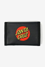 Santa Cruz Dot Velcro Wallet Mens in Black