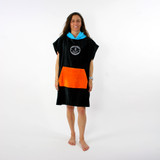 Trigger Bros x Ocean And Earth Colab Hooded Poncho Youth in Black