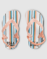 Billabong You Know It Thong Junior Girls in White Swan