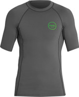 Xcel Huntington Short Sleeve Rashvest Mens in Gunmetal