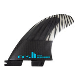 FCS II Performer PC Carbon Medium Thruster Fin Set in Black Teal