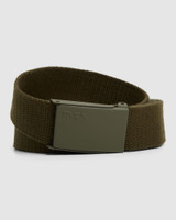RVCA Option Web Belt Mens in Olive