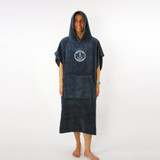 Trigger Bros x Ocean And Earth Colab Corp Hooded Poncho Mens in Navy