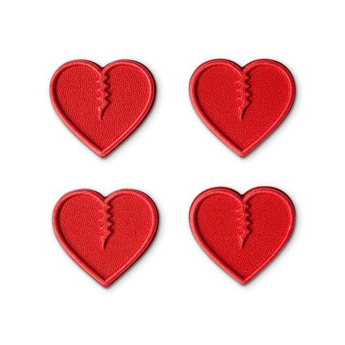 Crab Grab Mini Hearts Stomp Pad Pack in Red