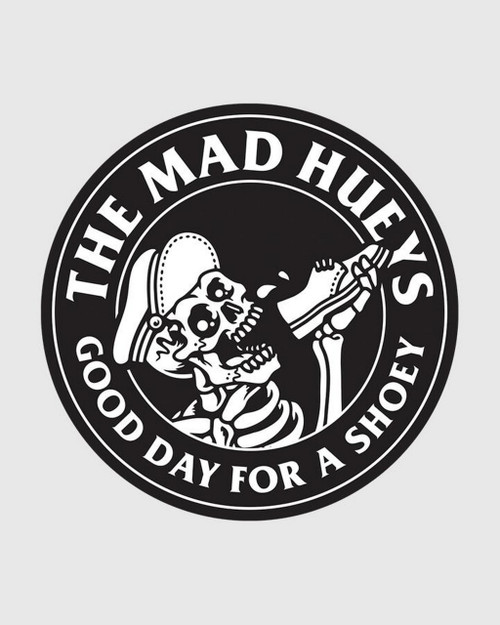 The Mad Hueys Drink Quick Sticker in Black
