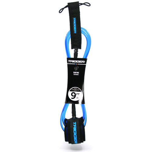 Trigger Bros 9ft Longboard Sup Ankle Leash in Blue