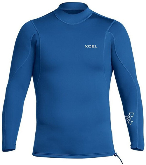 Xcel Axis 2/1MM Long Sleeve Wetsuit Jacket Mens in Faint Blue