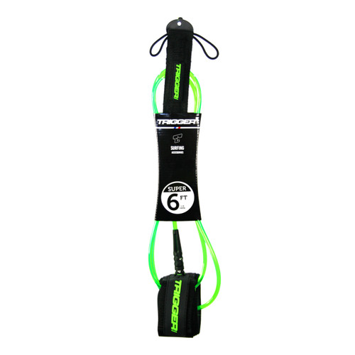 Trigger Bros 6ft Super Leash in Clear Fluro Green