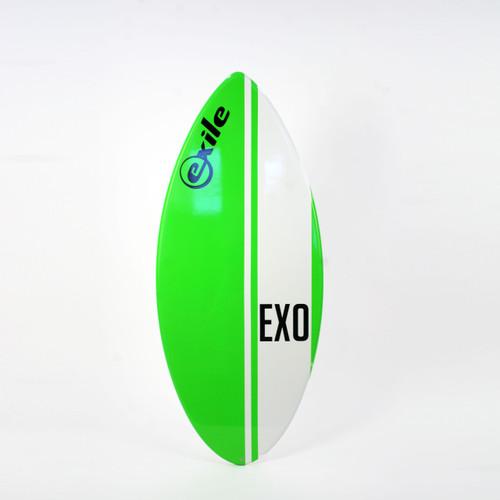Exile Skimboards EX0 48in 5/8 Medium in Green Vertical Stripe