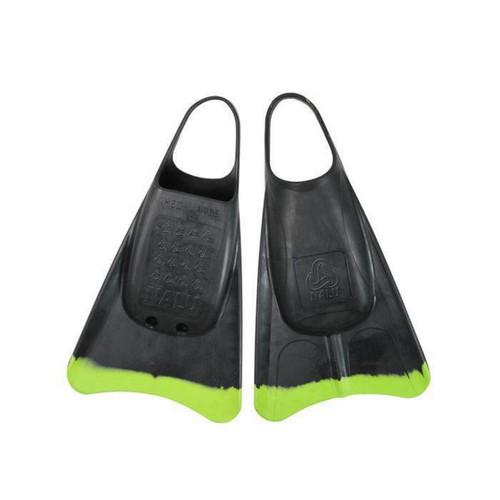 Nalu Swim Fin in Black Fluro Green