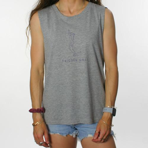 Trigger Girls Indi Surf Tank Ladies in Grey Marle