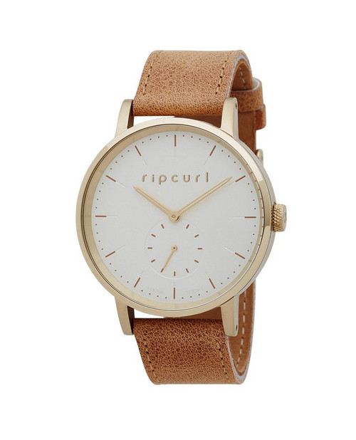 Rip Curl Circa Gold Leather Watch Ladies in Gold
