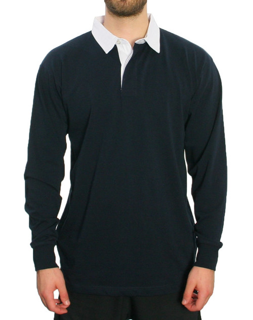 Trigger Bros Rugby Top Mens in Navy