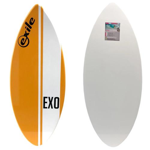 Exile Skimboards EX0 52in 3/4 Large in Orange Vertical Stripe