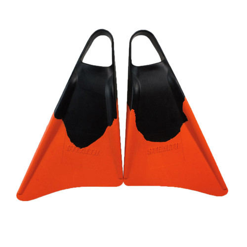 Stealth S1 Classic Fins in Black Orange