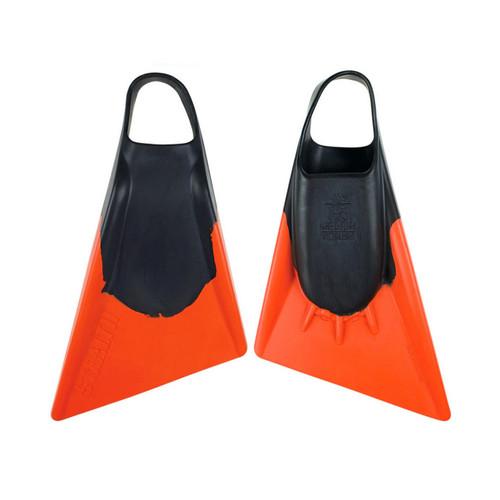 Stealth S2 Fins in Black Orange