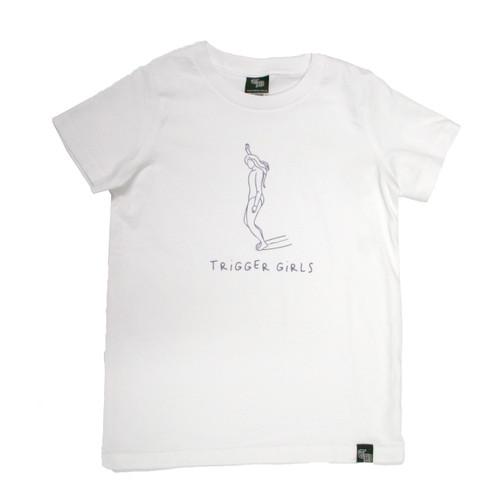 Trigger Girls Indi Surf Tee Junior Girls in White