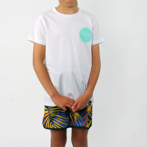 Trigger Bros East Coast Tee Kids in White Mint