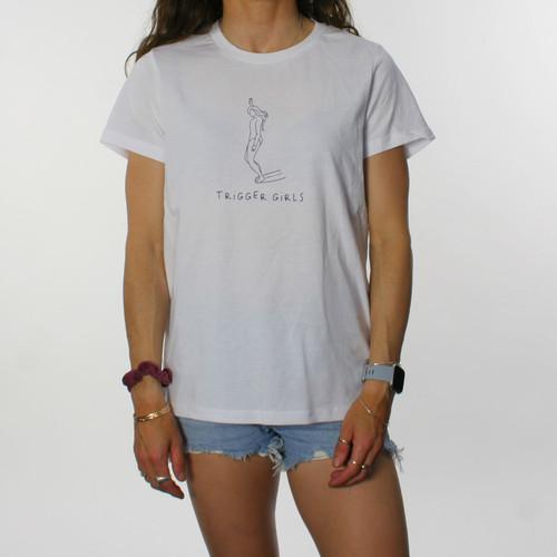 Trigger Girls Indi Surf Tee Ladies in White