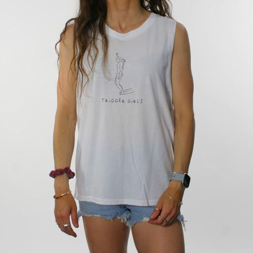 Trigger Girls Indi Surf Tank Ladies in White