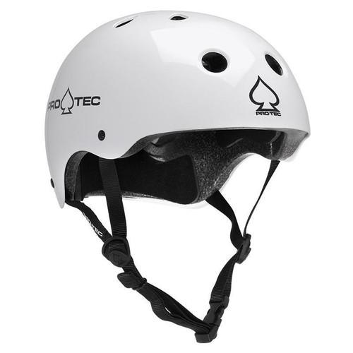 Protec Classic Skate Helmet in Gloss White