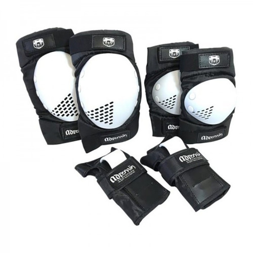 Adrenalin Skate Protection 6 Piece Adult Set in White