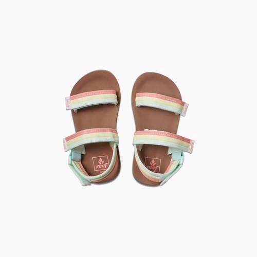 Reef Little Ahi Convertible Sandal Girls in Rainbow