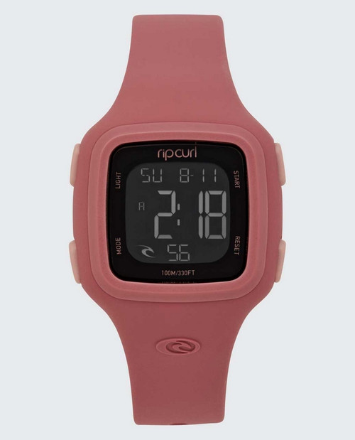 Rip Curl Candy2 Digital Silicone Watch Ladies in Dusty Rose