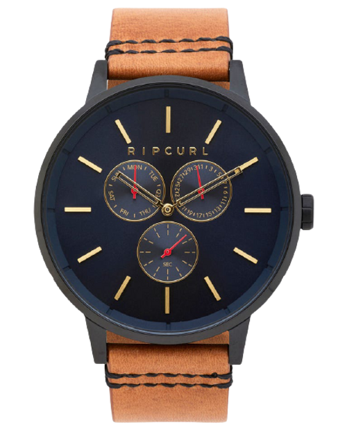 Rip Curl Detroit Multi Midnight Leather Watch Mens in Navy