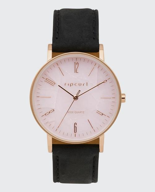 Rip Curl Latch Rose Gold Quartz Leather Watch Ladies in Pink