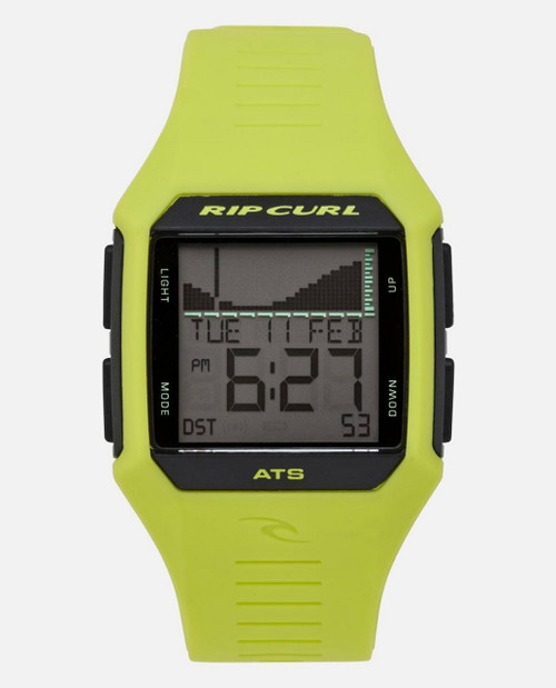 Rip Curl Rifles Midsize Tide Watch Mens in Sunny Lime