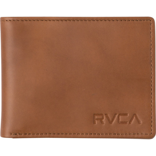 RVCA Crest Bifold Wallet Mens in Tan
