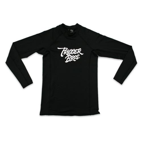 Trigger Bros Sometimes Long Sleeve Rashvest Kids in Black