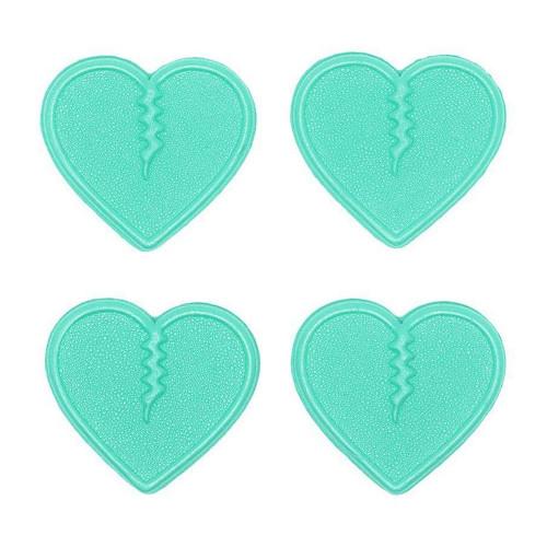Crab Grab Mini Hearts Stomp Pad Pack in Aqua