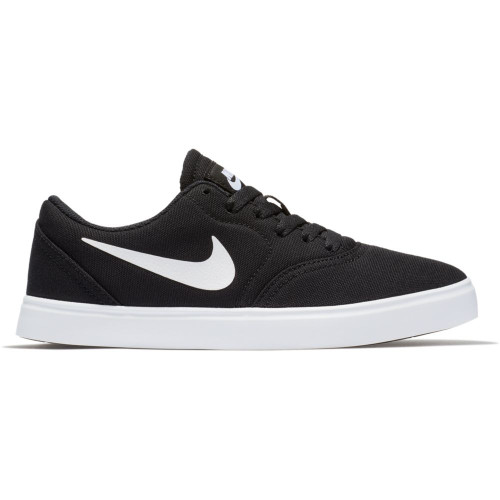 Nike SB Check Canvas Toddler Shoes in Black White