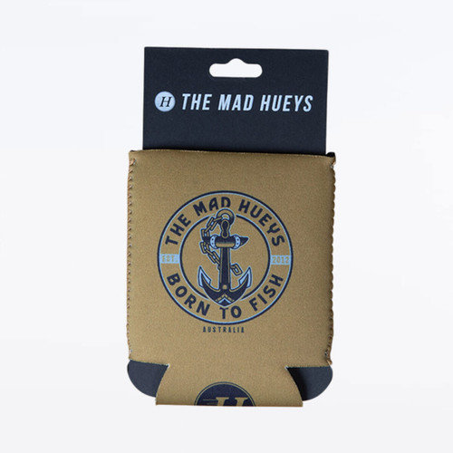 Mad Hueys Born To Fish Cooler in Tobacco