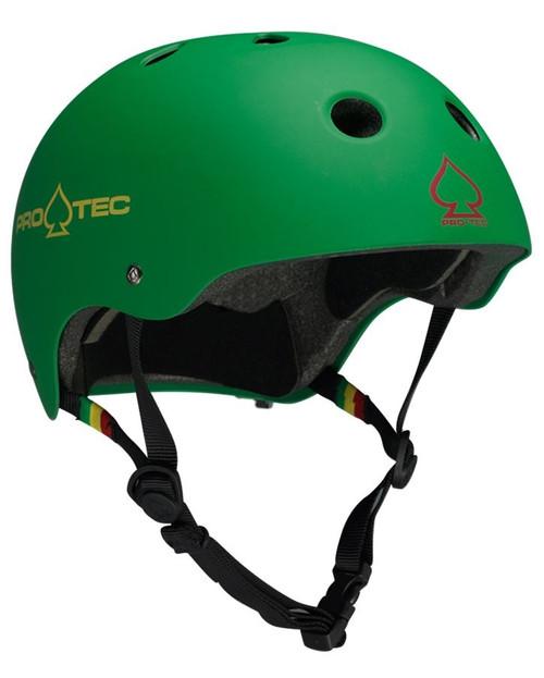 Protec Classic Certified Helmet in Matte Rasta Green