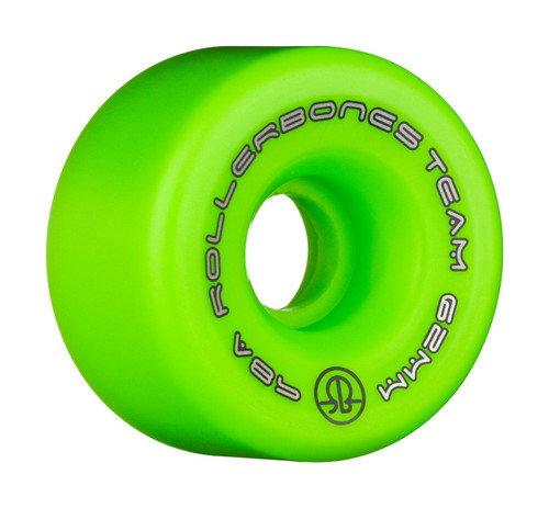 Rollerbones Team Logo Wheels 62mm x 98a 8 pack in Green