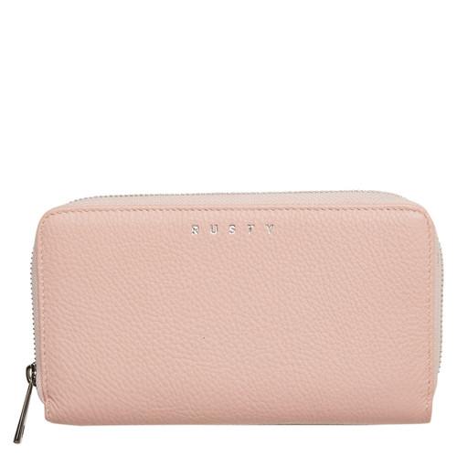 Rusty Grace Leather Wallet Ladies in Misty Rose