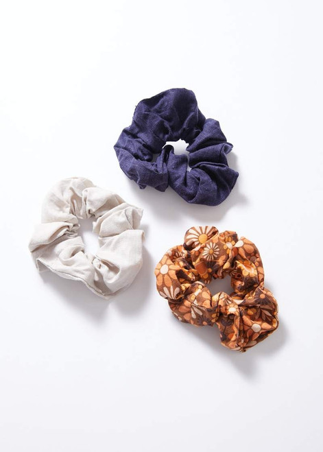 Afends Daisy May Hemp Scrunchies 3 Pack in Multi